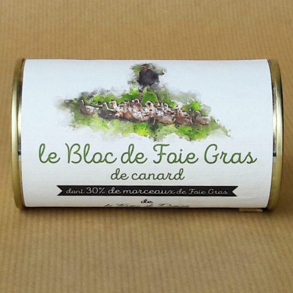 bloc de foie gras conserve