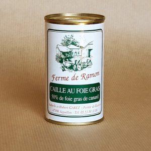 caille au foie gras