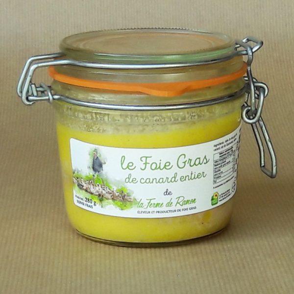 foie gras de canard entier 280g